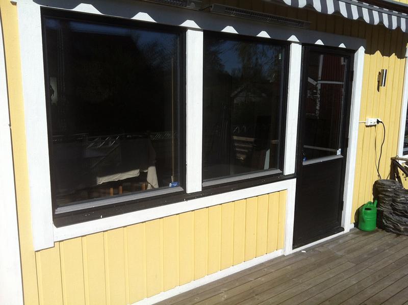 Före: Fönsterdörr och 2 fasta fönster