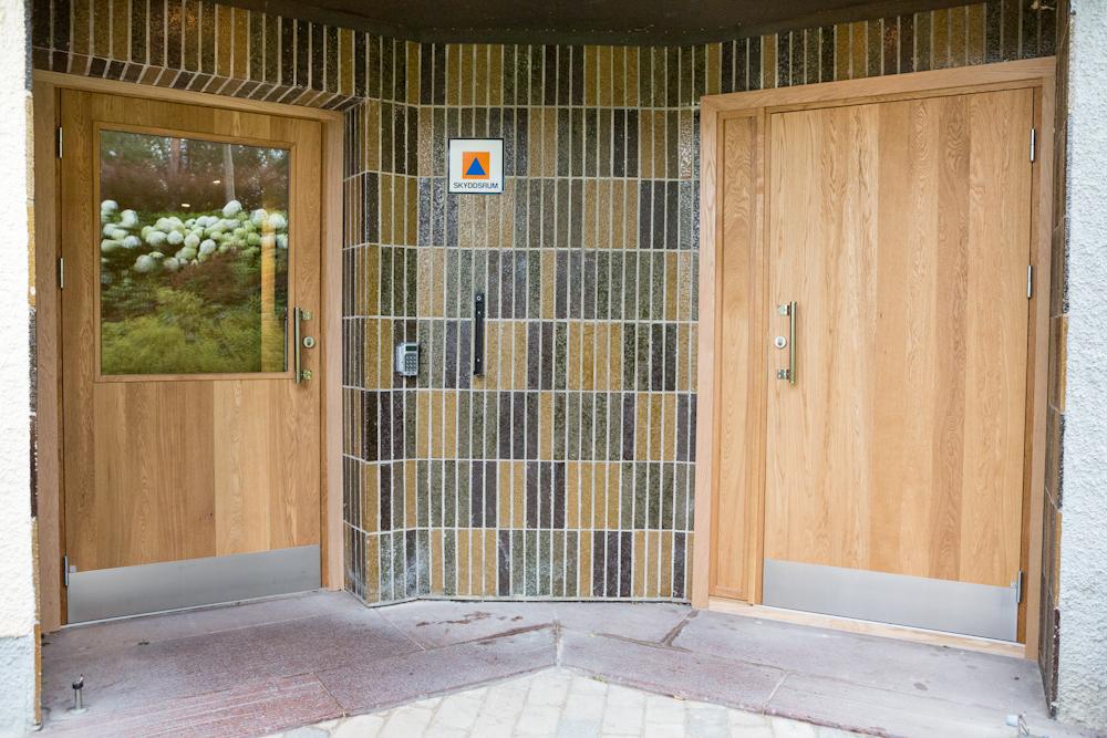 Efter installationen av Ekstrands dörrar i ek