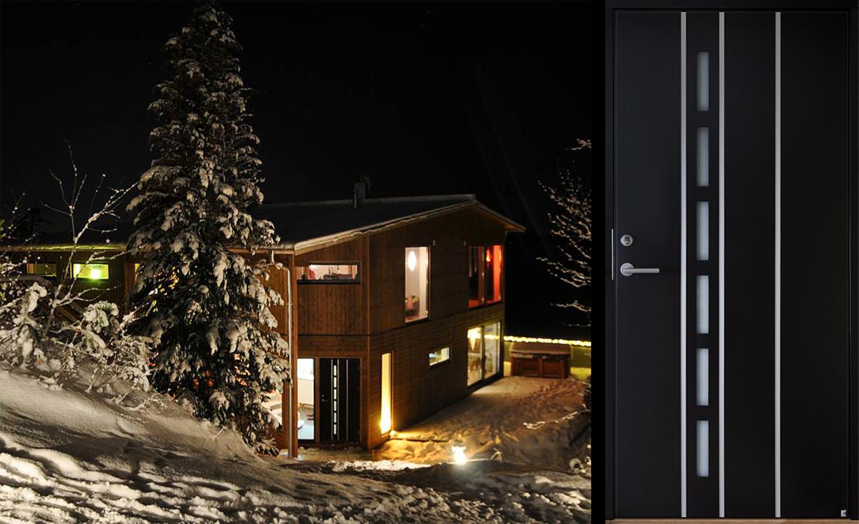 Douro 104 G22 är en modern och smakfull ytterdörr som gör sig extra bra i svart färg.
